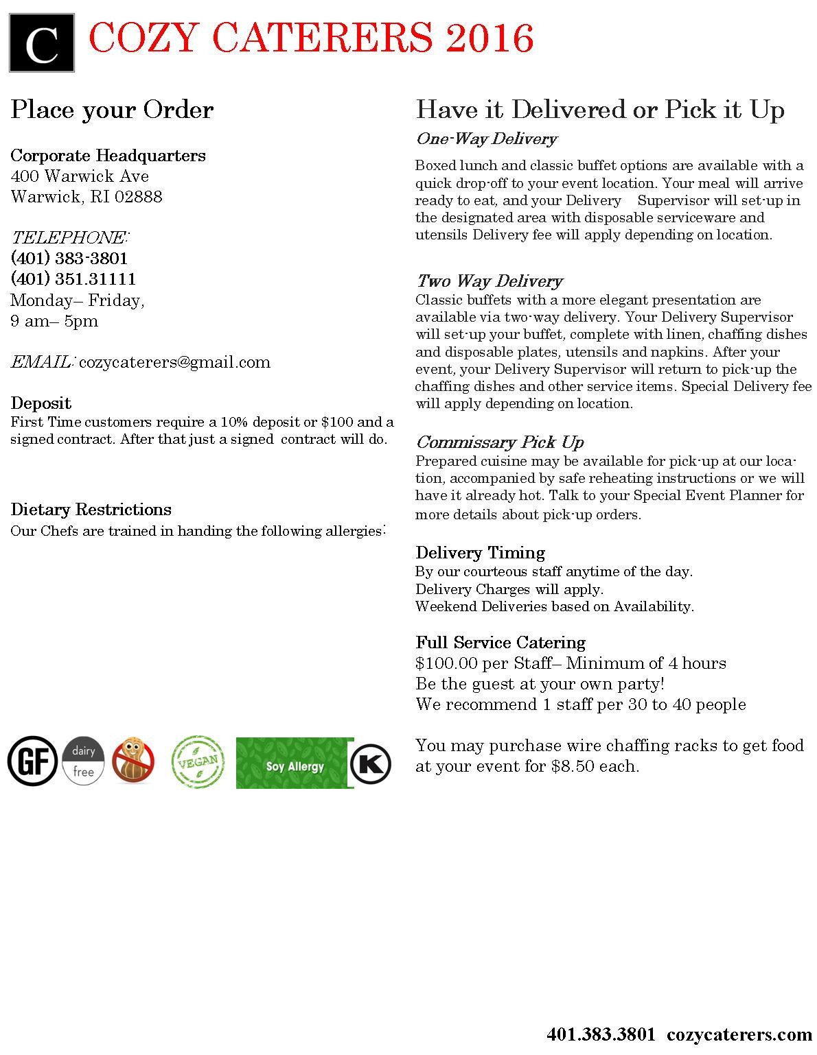 Page 1 menu