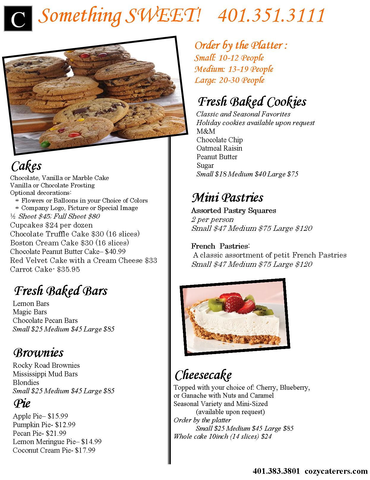 Page 14 - Cozy Caterers Page on