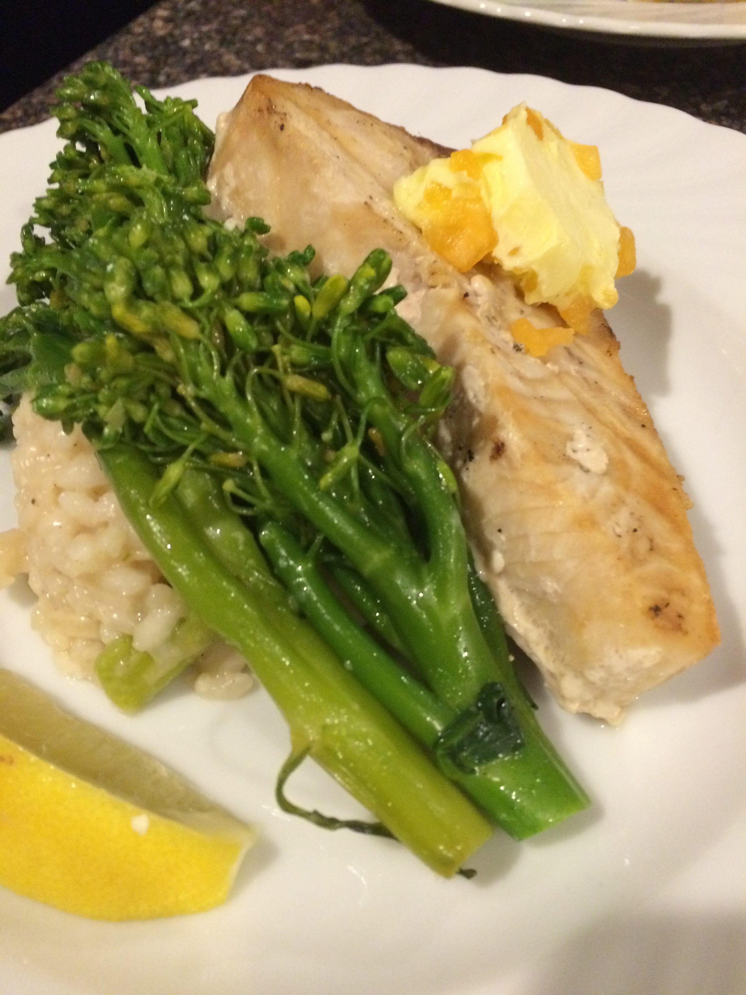 Grilled Swordfish with a Canteloupe Butter