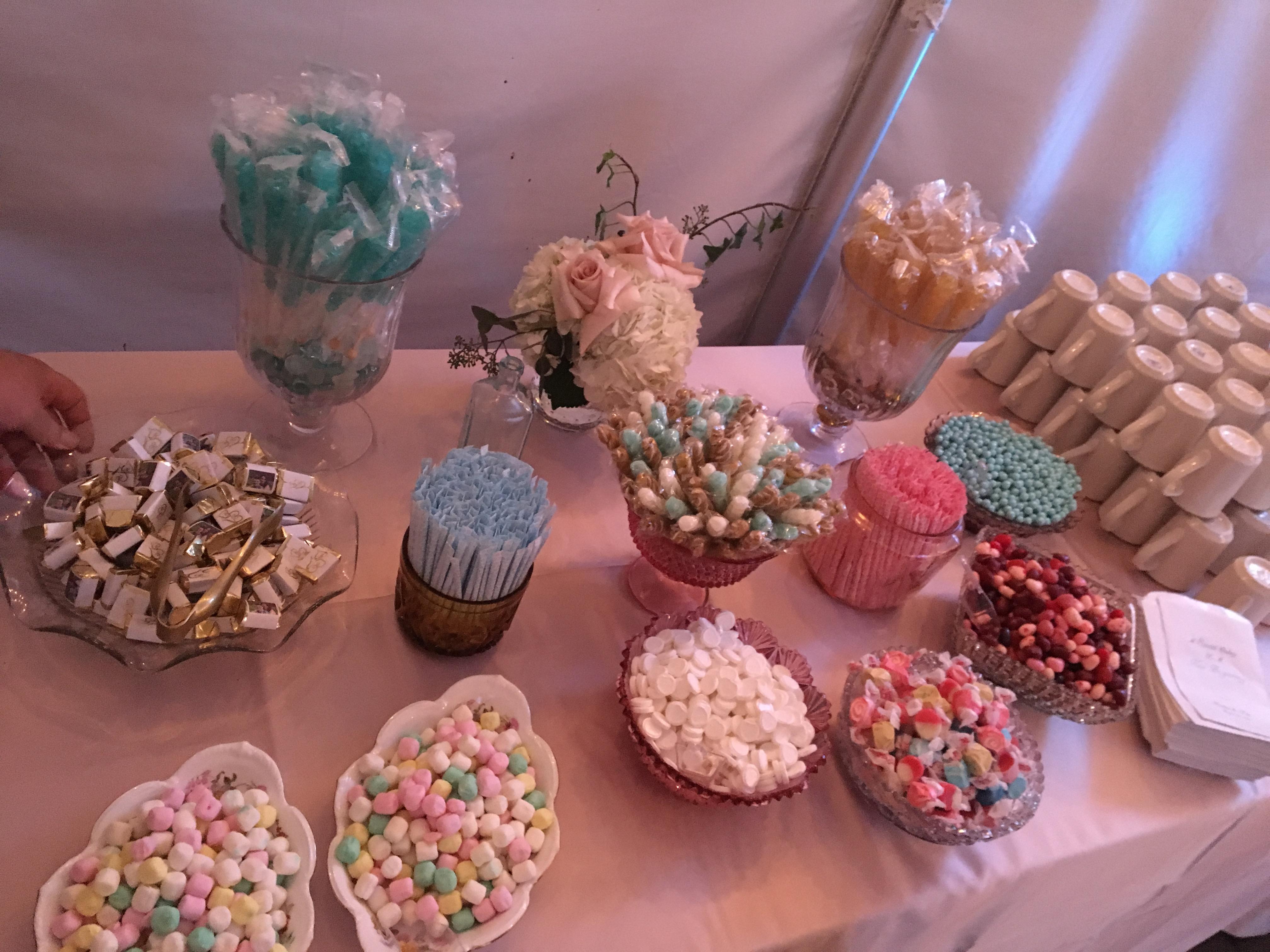 Candy Buffet-Five Bridge Inn Wedding
